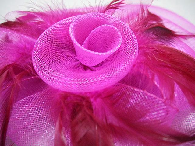 オーガンジー髪飾り スペイン製 カラー:紫
