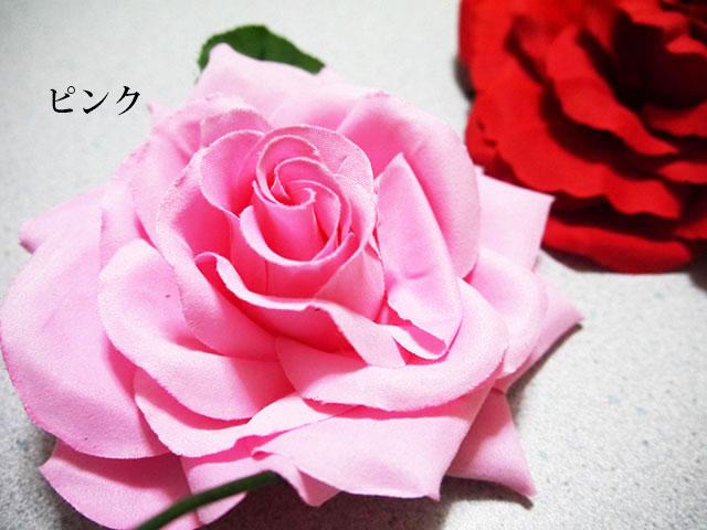 フラメンコ バラの花 髪アイテム カラー:ピンク