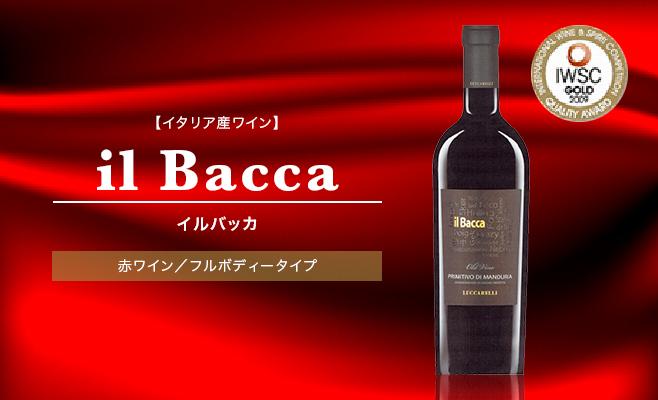 【イタリア産ワイン】il Bacca イルバッカ 赤ワイン フルボディータイプ